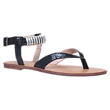 Buy Carvela Klip Block Heeled Court Sandals, Black Online at johnlewis.com