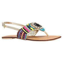 Buy Carvela Brazil Embellished Flat Sandals, Multi Online at johnlewis.com