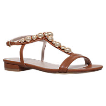 Buy Carvela Bump Embellished T-Bar Sandals, Tan Online at johnlewis.com