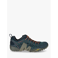 Buy Merrell Intercept Leather Walking Shoes, Blue Wing Online at johnlewis.com
