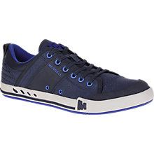 Buy Merrell Rant Canvas and Leather Men's Trainers, Nautical Blue Online at johnlewis.com