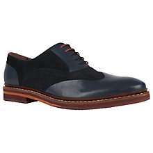 Buy Ted Baker Saskat Oxford Suede Leather Shoes, Dark Blue Online at johnlewis.com