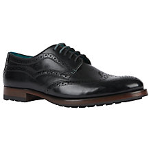 Buy Ted Baker Senape Glossy Brogue Shoes Online at johnlewis.com