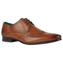 Buy Ted Baker Albbin Wing Tip Shoes, Tan Online at johnlewis.com