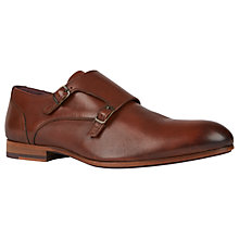 Buy Ted Baker Valath Monk Strap Shoes, Tan Online at johnlewis.com