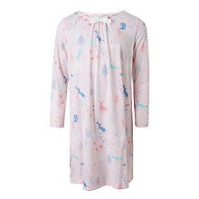 Buy John Lewis Children's Woodlands All-Over Print Night Dress, Pink Online at johnlewis.com