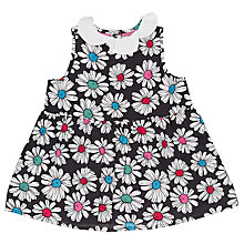Buy Margherita Kids Girls' Printed Daisy Collar Dress, Cream Online at johnlewis.com