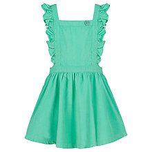 Buy Margherita Kids Girls' Corduroy Pinafore Dress, Green Online at johnlewis.com