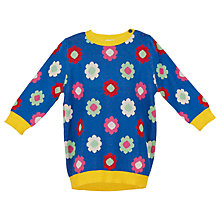 Buy Margherita Kids Girls' Daisy Double Knit Dress, Blue Online at johnlewis.com