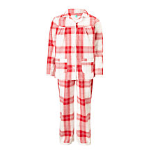 Buy John Lewis Children's Christmas Tartan Woven Pyjamas, Red Online at johnlewis.com
