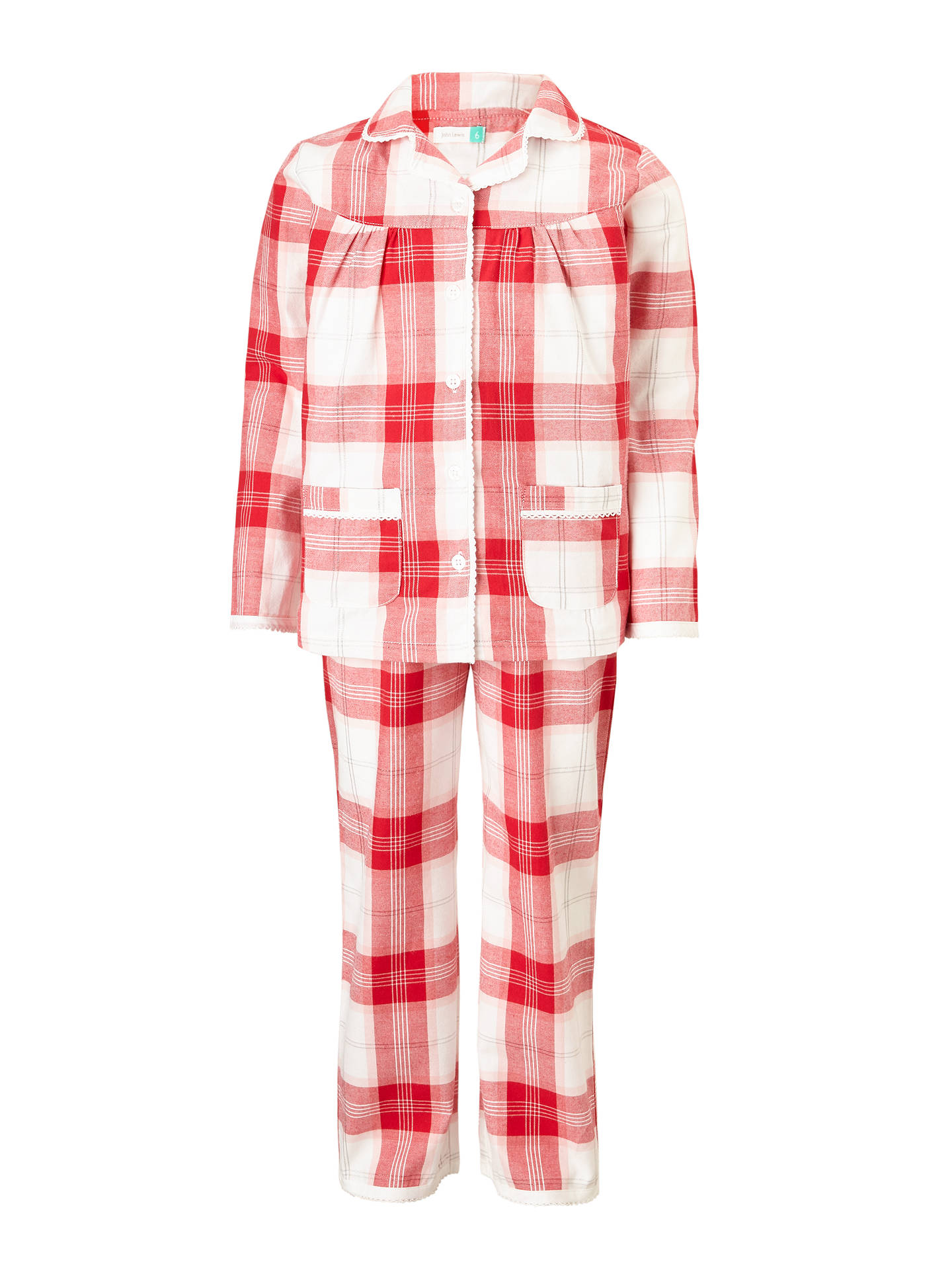 buyjohn lewis girls christmas tartan woven pyjamas red 2 years online at johnlewis - Childrens Christmas Pyjamas