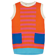 Buy Margherita Kids Girls' Retro Colour Block Dress, Orange Online at johnlewis.com
