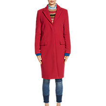 Buy Oui Wool Cashmere Blend Overcoat, Cerise Online at johnlewis.com