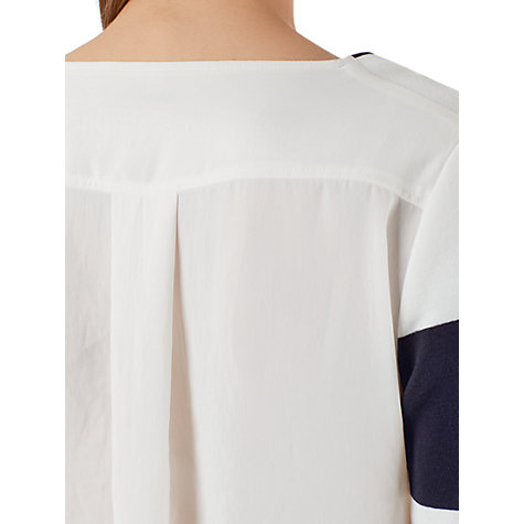 Buy Marc Cain Wide Stripe Jumper, Navy/White Online at johnlewis.com