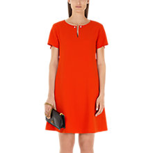 Buy Marc Cain A-Line Beaded Dress, Flame Online at johnlewis.com