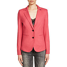 Buy Oui Lightweight Wool Blend Jacket, Pink Online at johnlewis.com