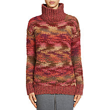 Buy Oui Melange Knit Jumper, Dark Red/Red Online at johnlewis.com