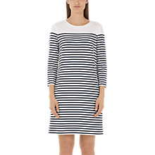 Buy Marc Cain Stripe Jersey Dress, Navy/White Online at johnlewis.com