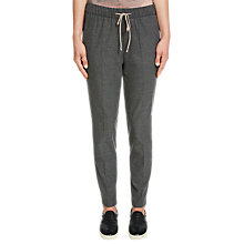 Buy Oui Drawstring Trousers, Dark Grey Online at johnlewis.com