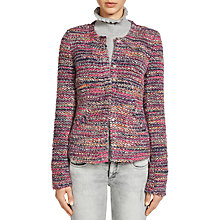 Buy Oui Boucle Jacket, Light Grey/Red Online at johnlewis.com