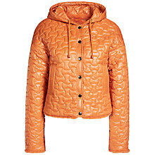 Buy Oui Quilted Reversible Jacket, Dark Orange Online at johnlewis.com