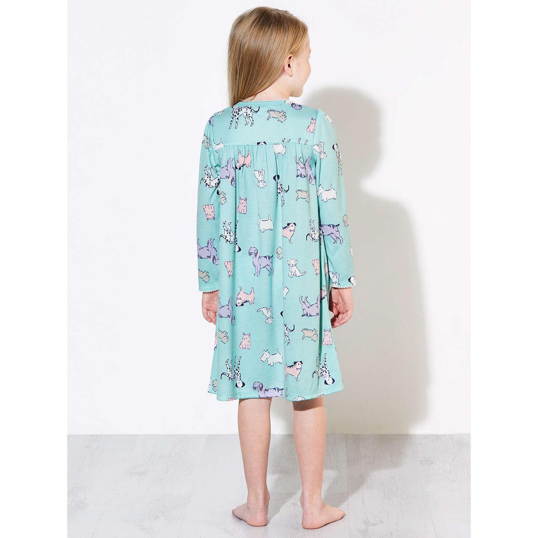 John Lewis Children\'s Dog Print Night Dress, Blue at John Lewis