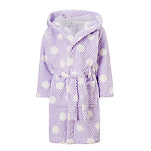 Buy John Lewis Children's Stars And Spots Waffle Robe, Lilac Online at johnlewis.com