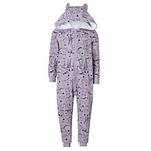 Buy John Lewis Children's Sweater Dog Print Onesie, Lilac Marl Online at johnlewis.com
