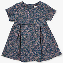 Buy Wheat Baby Jersey Dress, Navy Online at johnlewis.com