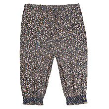 Buy Wheat Baby All-Over Floral Print Trousers, Navy Online at johnlewis.com