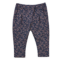 Buy Wheat Baby All-Over Cat Print Trousers, Navy Online at johnlewis.com