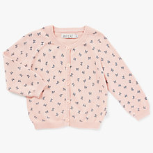 Buy Wheat Baby Bow Printed Cardigan Online at johnlewis.com