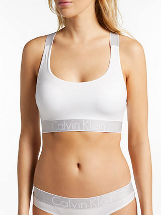 Buy Calvin Klein Underwear Custom Stretch Bralette, White, S Online at johnlewis.com