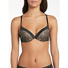 Buy Calvin Klein Underwear Obsess Plunge Bra, Black/Multi Online at johnlewis.com
