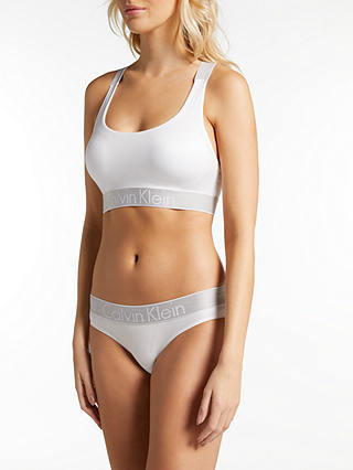 Buy Calvin Klein Underwear Customized Stretch Bikini Briefs, White, S Online at johnlewis.com