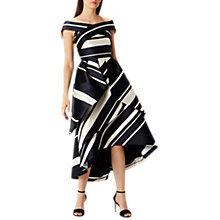 Buy Coast Eve Stripe Bardot Dress, Mono Online at johnlewis.com