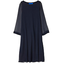 Buy Winser London Georgette Silk Layered Shift Dress, Midnight Online at johnlewis.com