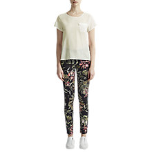 Buy French Connection Sania Plains Short Sleeve Top Online at johnlewis.com