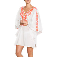 Buy East Beaded Embroidered Kaftan, Pink Online at johnlewis.com