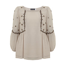 Buy Mint Velvet Embroidered Swing Top Online at johnlewis.com
