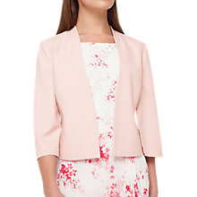 Buy Jacques Vert Petite Cape Jacket, Pastel Pink Online at johnlewis.com