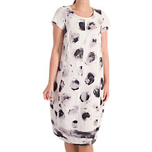 Buy Chesca Stripe Border Spot Dress, White/Lilac Online at johnlewis.com