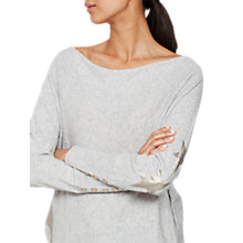 Buy Mint Velvet Gold Foil Star Batwing Jumper, Light Grey Online at johnlewis.com