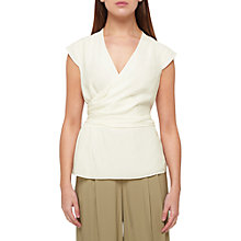 Buy Jacques Vert Silk Wrap Blouse, Ivory Online at johnlewis.com