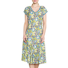 Buy East Anokhi Open Rose Print Dress, Kiwi Online at johnlewis.com