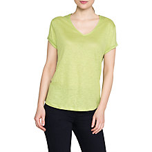 Buy East Linen Jersey Top, Kiwi Online at johnlewis.com