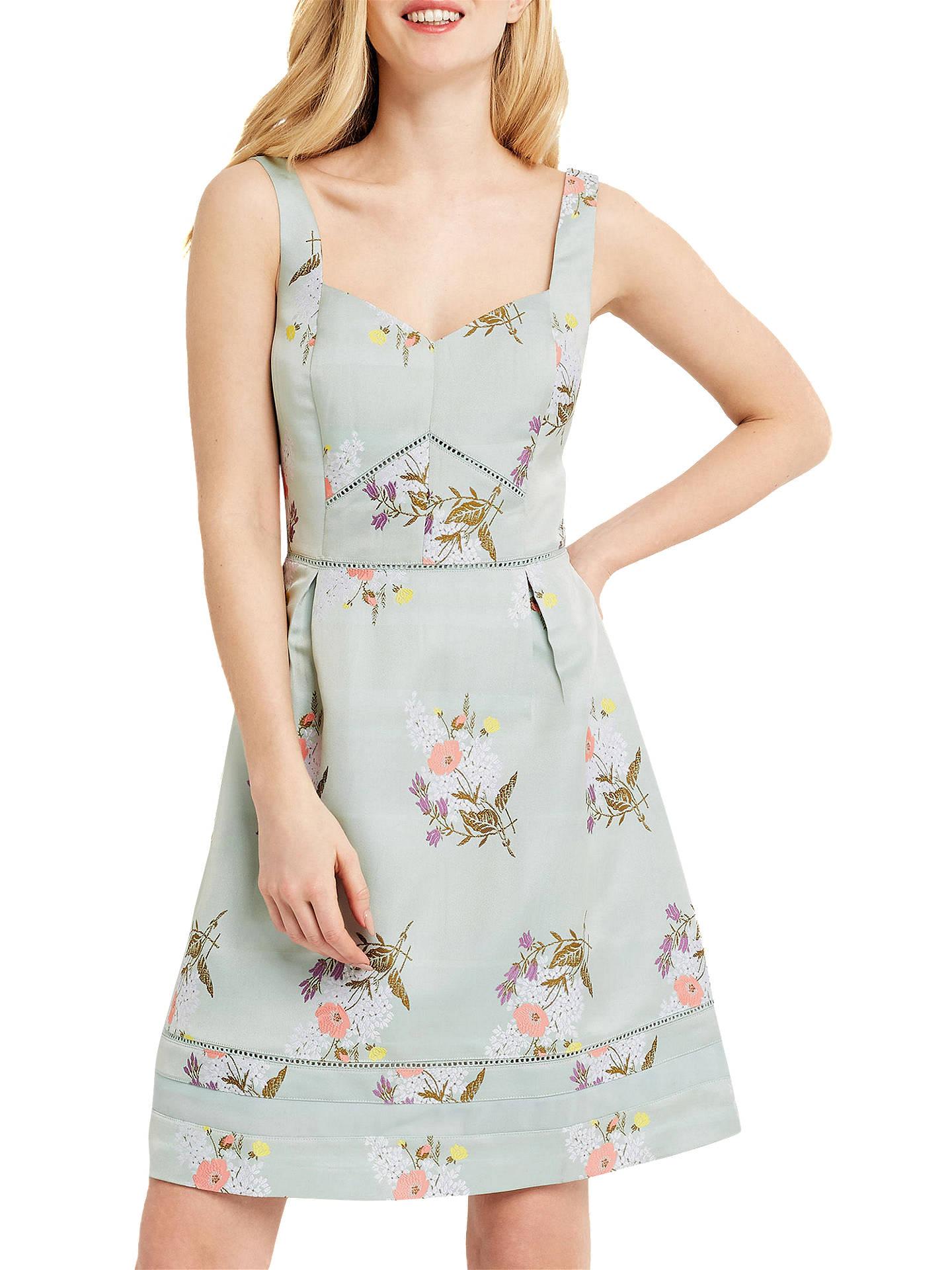 3600af2fc535 Buy Oasis Spring Jacquard Dress, Multi Green, 6 Online at johnlewis.com ...