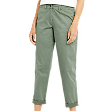Buy Oasis Cotton Cargo Trousers, Khaki Online at johnlewis.com