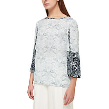 Buy Jacques Vert Tile Print Border Top, Multi Online at johnlewis.com