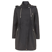 Buy Mint Velvet Metallised Parka Coat, Dark Grey Online at johnlewis.com